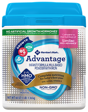 Member's Mark Advantage Compare to Similac Advance