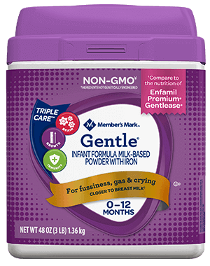 Member's Mark Gentle Formula Compare to Enfamil Gentlease